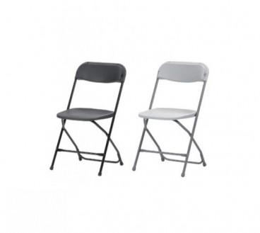 Mobilier chaises pliantes blanches ou noires